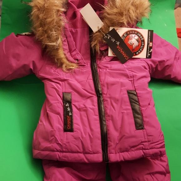 Canada Goose Baby SnowSuit maron